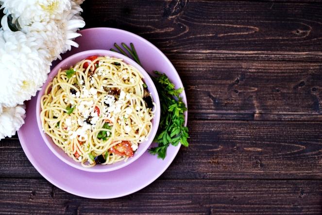 Roasted-tomato-eggplant-pasta
